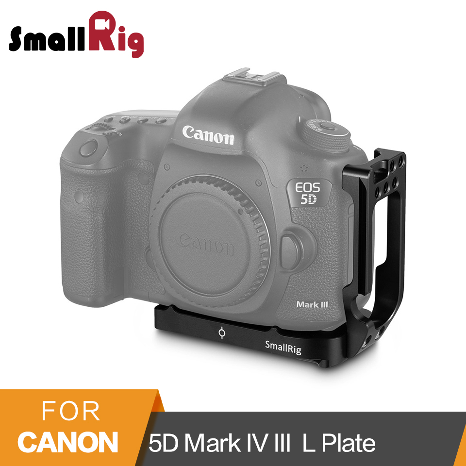 SmallRig L Bracket For Canon 5D Mark IV III DLSR Camera Quick Release Plate Arca-Swiss Standard L-Shaped Mounting Plate- 2202