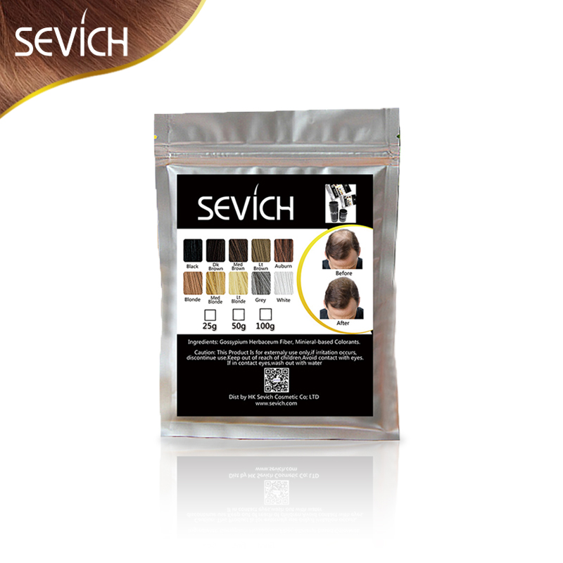 OEM Private Label SEVICH Hair Fiber Powder Keratin Fibers Thickening Building Thin Loss Treatment 100g Refill Spray Applicator ...