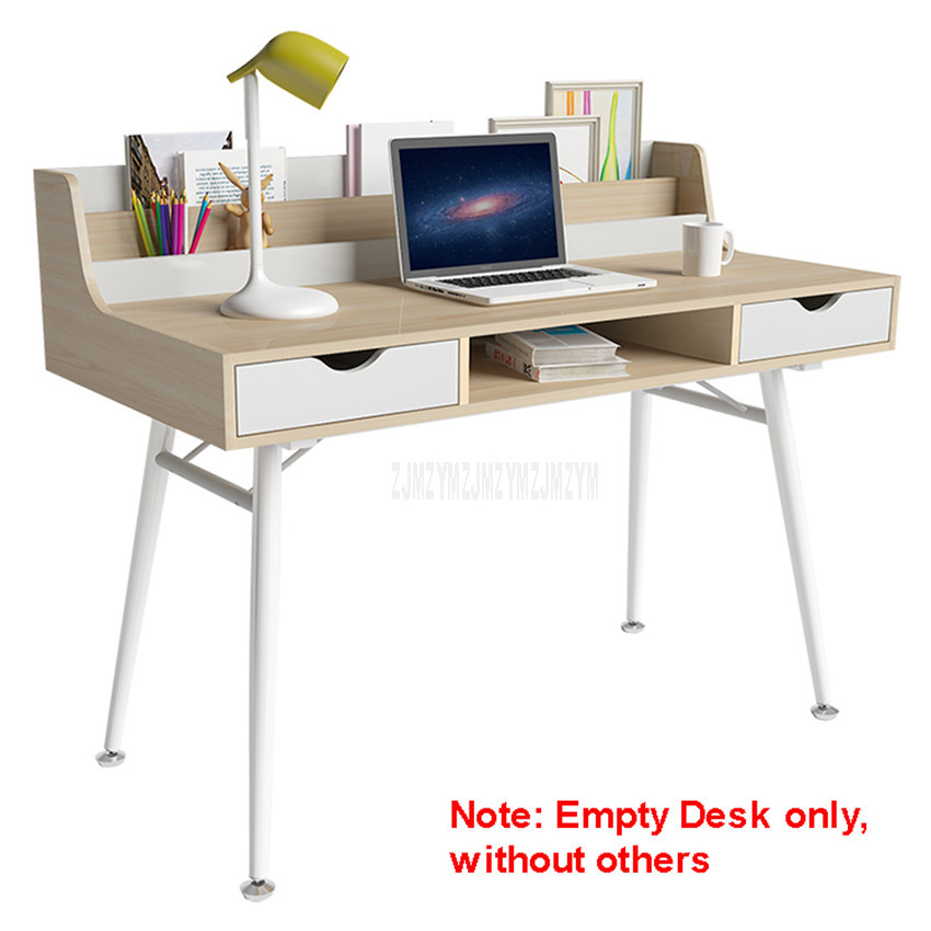 Lapdesks Energetic 120*60cm Simple Computer Table Lapdesk Wood Student Study Desk Household Notebook Benchtop Bedroom Bedside Metal Tube Leg Table With A Long Standing Reputation Computer & Office