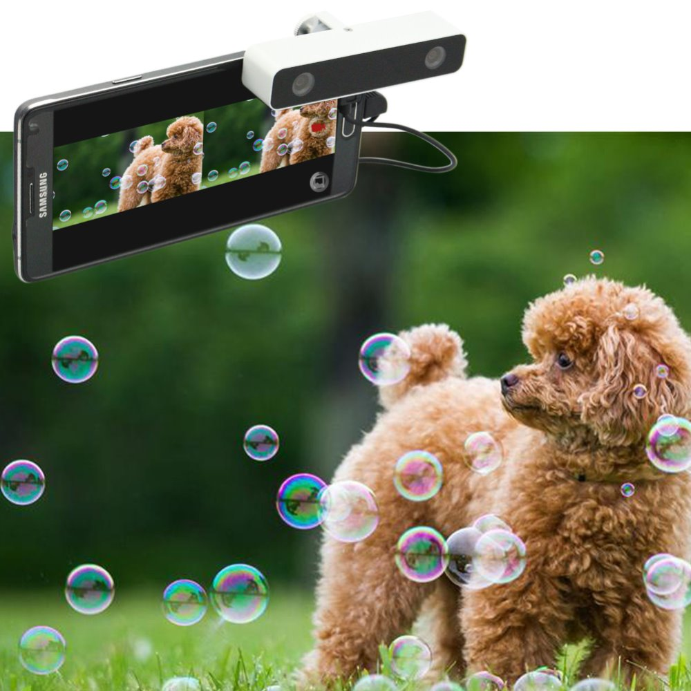 white color HD 720P on android mobile phone side by side video digital camera camera effect 3D free camera apps 3D camera