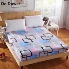 2017 Hoting Printing Aloe Cotton Fitted Sheet Mattress Cover Printing Bedding Linens Bed Sheets With Elastic Band