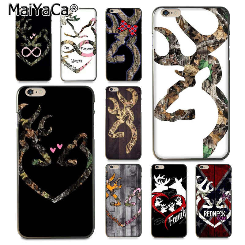 MaiYaCa Browning Hunting Deer Colorful Cute Phone Accessories Case for iPhone 8 7 6 6S Plus q50