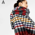 za Winter Scarf Luxury Brand Tartan Cashmere Scarf Women Swallow gird scarf Pashmina Wrap Shawls and Scarves