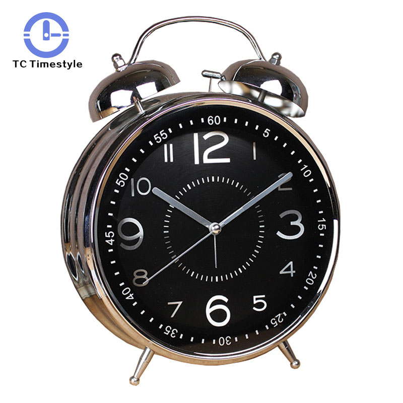 8 Inches Alarm Clock Retro Watch Table Metal Ringing Bell Digital Table Alarm Clocks Living Room Bedroom Home Decor8 Inches Alarm Clock Retro Watch Table Metal Ringing Bell Digital Table Alarm Clocks Living Room Bedroom Home Decor