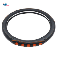 Taitian New Soft Leather Steering Cover Breathable Super Fiber Car Steering Wheel Piercing Dynamic Steering Wheel