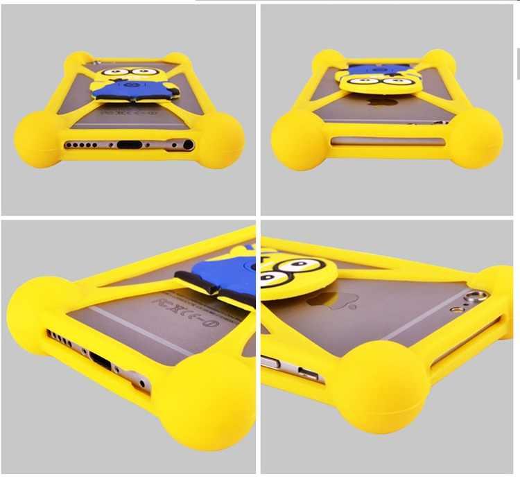 Милый мягкий силиконовый чехол с мини миньонами «hello kitty» и «Бэтмен» для Vertex Impress Bear Blade City Click NFC Cube