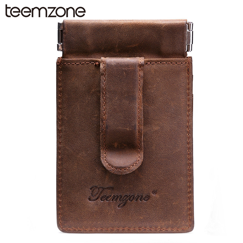 New Men\'s Genuine Leather Wallet Vintage Business Casual Credit Card ...