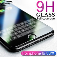 цена ZLNHIV for iphone X XR XS MAX phone screen protector glass for iphone S 7 8 plus 6 6S 5 5S SE 5C 4 4s tempered glass protective онлайн в 2017 году