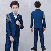 2019 Hot sale boys suit blazer kids wedding suit set boys fashion suit set boy suits formal costume enfant garcon mariage