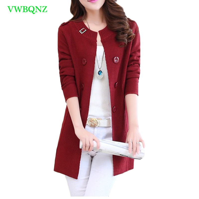 Autumn Winter New Female Knit Cardigan Sweater Women Korean Wild Sweaters Coat Womens Plus size Long Cardigan Sweaters 3XL A698