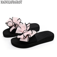 2017 Bow Thong Jelly Shoes Woman Jelly Flip Flops Women Sandals Ladies Flat Slippers Zapatos Mujer