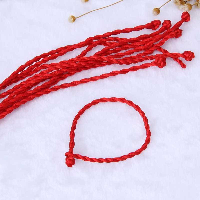 10PCS Kabbalah Corda Vermelha Pulseiras Étnico Corda Corda Vermelha Acessórios Jóias