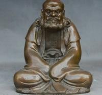 8 Chinese Buddhism Bronze Old monk Arhat Bodhidharma Damo Dharma Buddha Statue