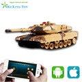 Celular bluetooth Gravidade do tanque de Controle Remoto RC VS Imitação do som tanque de som para a frente tiro arma pai-filho toy presente para o menino kid