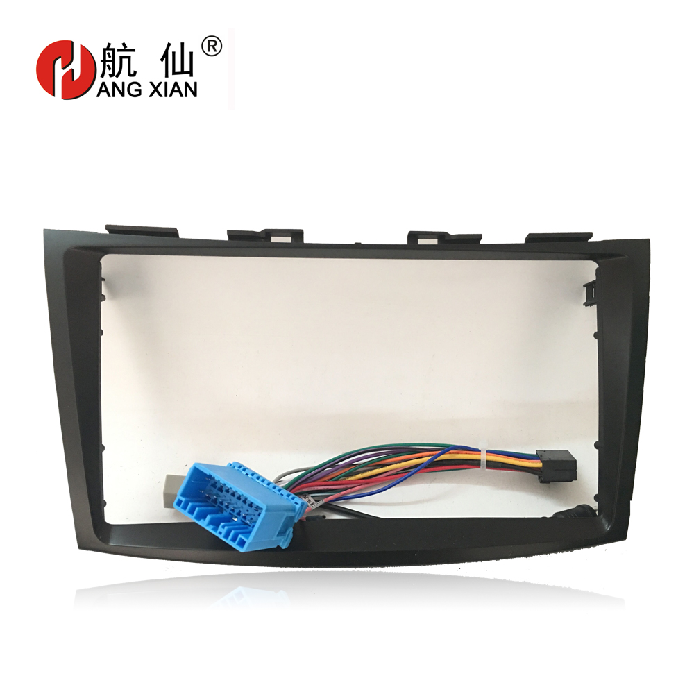 HANGXIAN 2 Din Car Radio Fascia frame for Suzuki Swift Ertiga 2005-2016 Car DVD player Panel Dash Kit Installation FrameHANGXIAN 2 Din Car Radio Fascia frame for Suzuki Swift Ertiga 2005-2016 Car DVD player Panel Dash Kit Installation Frame