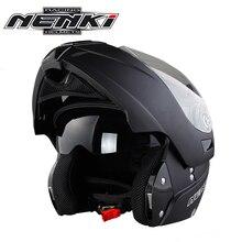 NENKI Motorcycle Full Face Helmet Modular Flip Up Double Visor Helmet