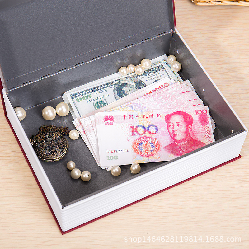 Creative Cash Private Money Box Jewelry Safe Storage Boxes Security Key Lock -3 Colors Dictionary Book Shape for Children Gift