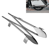 Chrome Pinnacle Saddlebag Protector Rails For Indian Roadmaster 15 18 Chieftain 14 18 Motorcycle