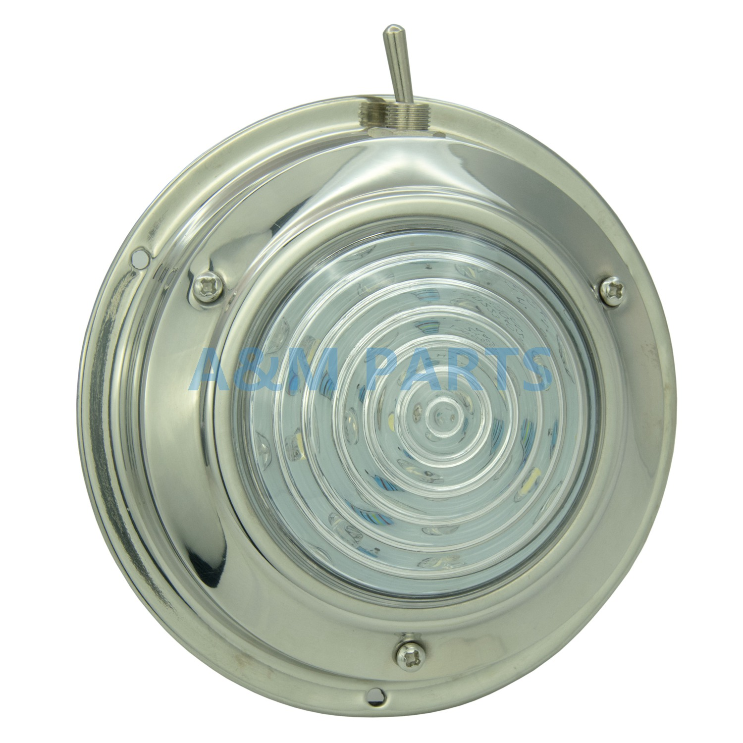 """12V LED 4.5/"""" Low Profile Surface Mount Ceiling Dome Light With Switch Marine RV"""