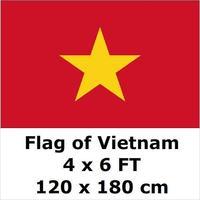 Vietnam Flag 4ft x6 ft Hanging Flag Polyester Vietnam Flag Outdoor Indoor 120x180cm Big Flag for Celebration