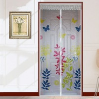 FUYA New Pringting Item Mesh Sheer Curtain Anti Mosquito Net Insect Screen Mosquito Curtain Magnetic Door