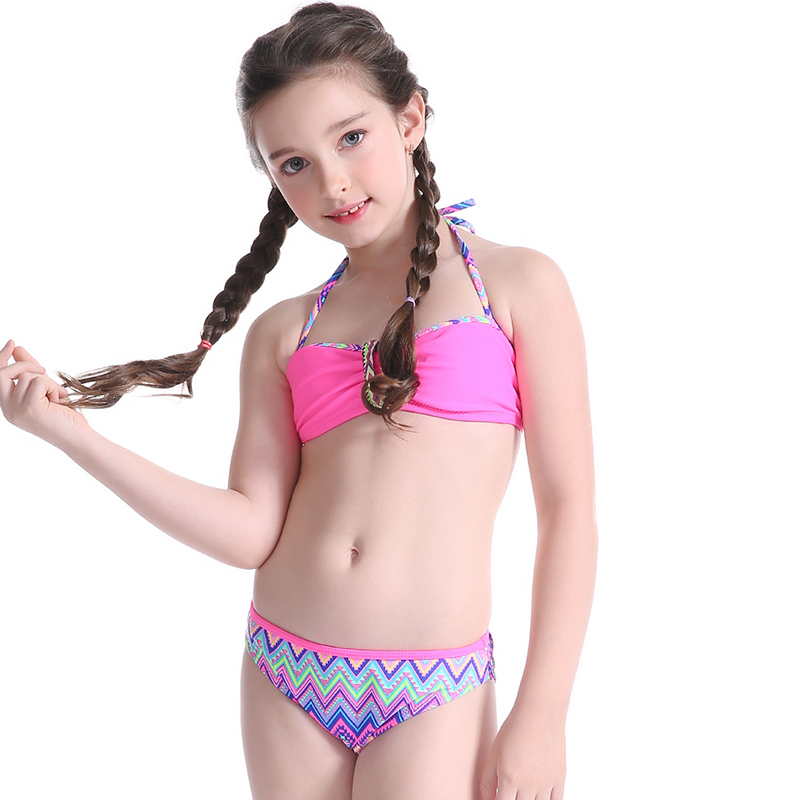 Swimwear Two Piece For Kid 2018 Children Bikini Swimsuit