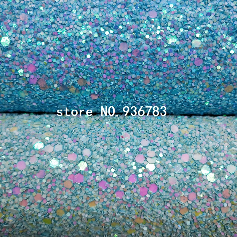 MQ073B  30X134cm Chunky Glitter Leather For Making Bows Shoes Handbags And Wallpaper Party Decoration
