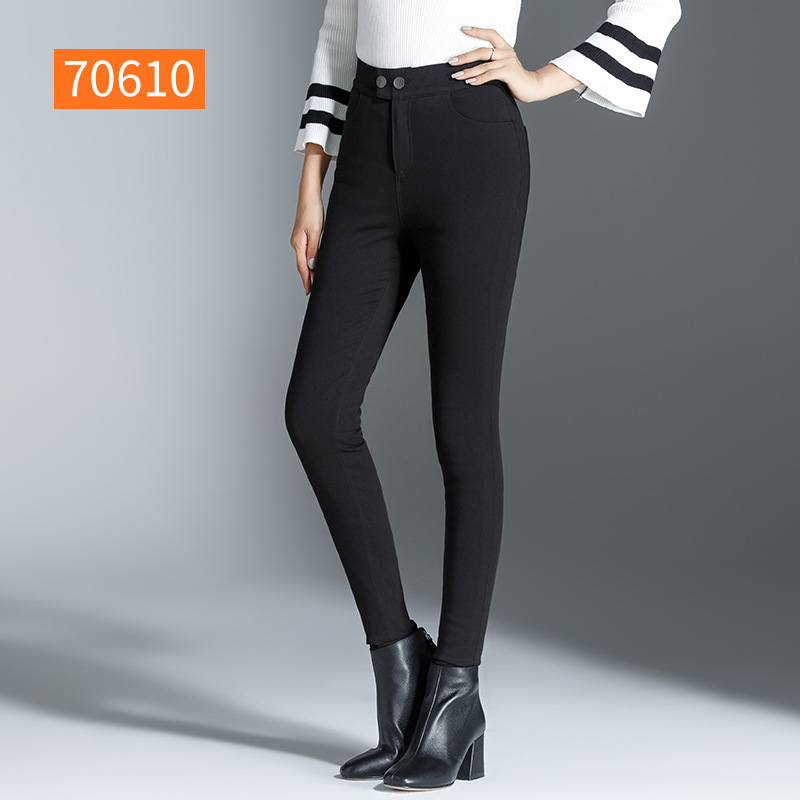 Shuchan Pants For Women 90 Down High Waist Pants Skinny Boot Cut Full Length Thick Trousers Winter Woman Warm Clothing 70610 in Pants amp Capris from Women 39 s Clothing