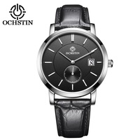 OCHSTIN Top Brand Fashion Mens Watch Leather Band Date 5ATM Sport Watches Men Casual Roman Scale Business Quartz Wrist watches