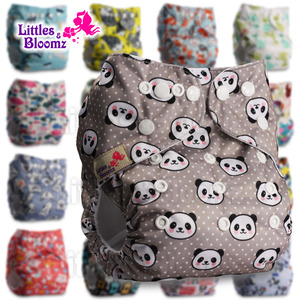 [Littles&Bloomz] Baby Washable Reusable Diaper Birth to Potty One Size Real Cloth Pocket Nappy Inserts Available Suit 3-15kg