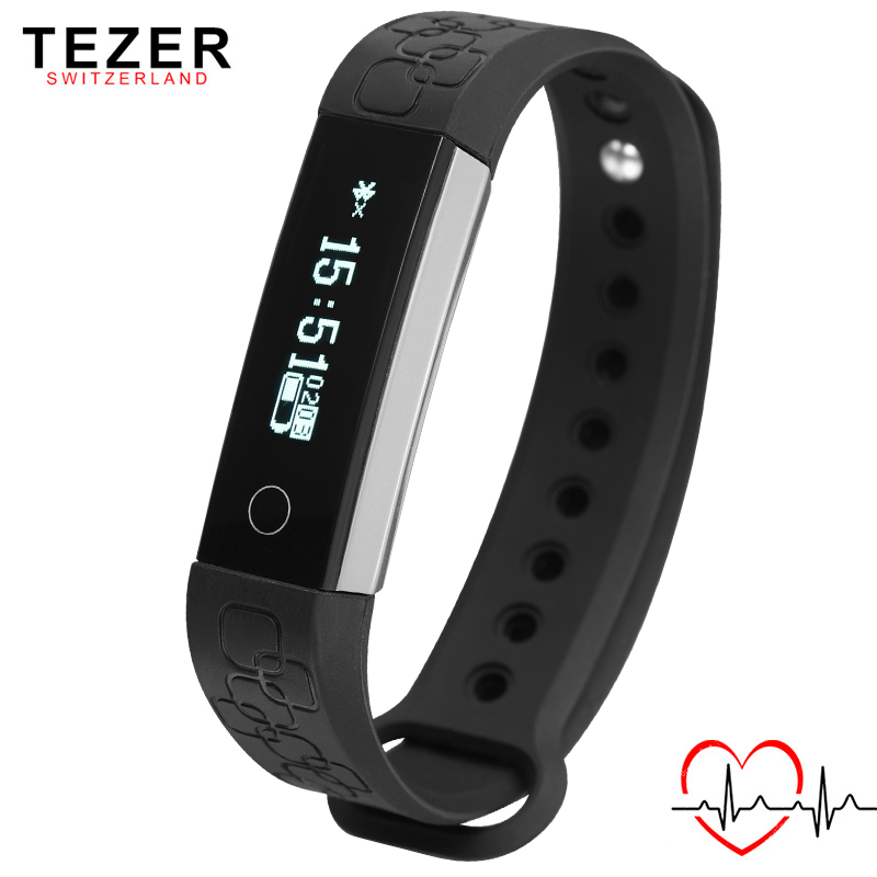 TEZER newest TOP sports on Wrist band Smart bracelet for Android IOS Alarm clocks Heart Rate
