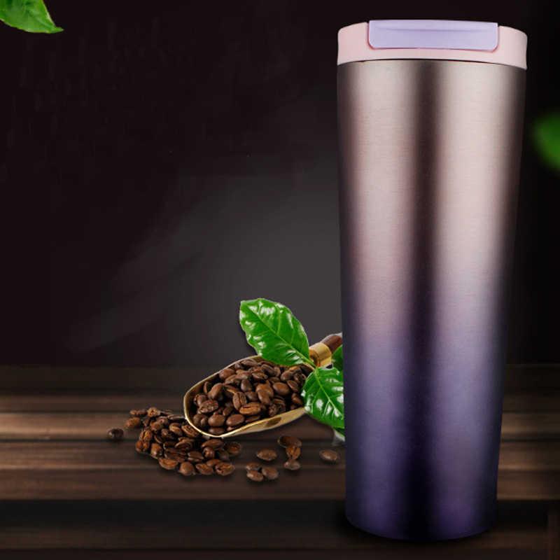 Taza de café al vacío ASFULL 500 ML, Taza Termo de acero inoxidable, tazón taza con tapa, termo de viaje, tazas para café