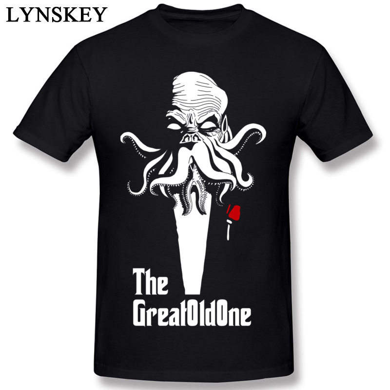 Low Price New T-Shirt 100% Cotton The Great Old One Cthulhu T Shirt Men Godfather T-Shirt Independence Day Tee Shirt Summer