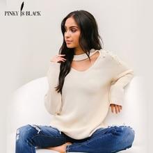 PinkyIsBlack Pearl Beaded Rib Knit Jumper Autumn Winter Womens Pullover Sweaters Grey hollow Collar Long Sleeve Tight Sweater layered ruffle sleeve rib knit tee