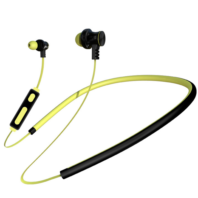 HATOSTEPED C6 New Noise Reduction Magnetic Wireless Microphone Waterproof Sports Bluetooth Headset Neck Mounted Stereo Earbuds