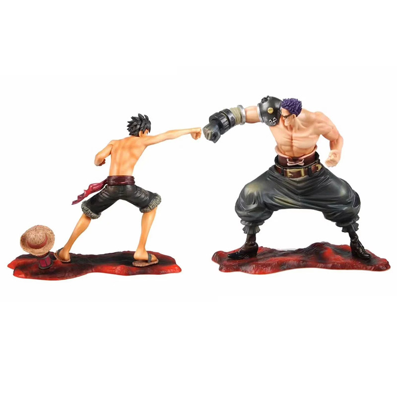 Action & Toy Figures Nice Anime 1/8th Scale One Piece Film Z Monkey D Luffy Vs Zephyr Action Pvc Figure Toys Brinquedos 16-18cm Limpid In Sight