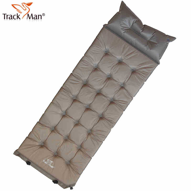 Outdoor Single Blow Up Automatically Air Aushion Bed Widen Thicken Camping Airpillow Inflatable Dampproof Mat Pad W/ Pillow creeper bl q001 convenient outdoor self inflation dampproof dacron air cushion mat camouflage