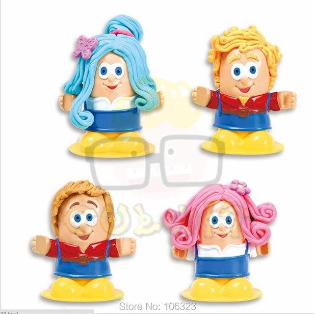 Hot 3D DIY Handmade Educational Toys, Hairstylist Creative Dough, New Fashion HairStyles House Maker, Environmental Plasticine