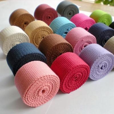 50 yards lot 2 5cm width high quality soft DIY dog collar sewing Polyester Cotton plain