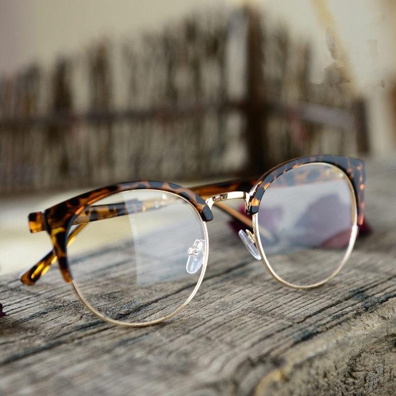6eaf89f3ed7 2016 Grade Vintage œil de chat montures de lunettes lunettes lunettes  montures pour femmes hommes plaine miroir dame spectacle monture de lunettes  dans ...