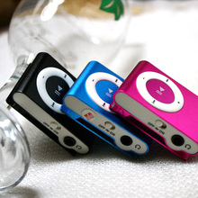 HUSOAR 10 Pcs Mini metal Clip MP3 Player With TF Card Slot Without Accessories