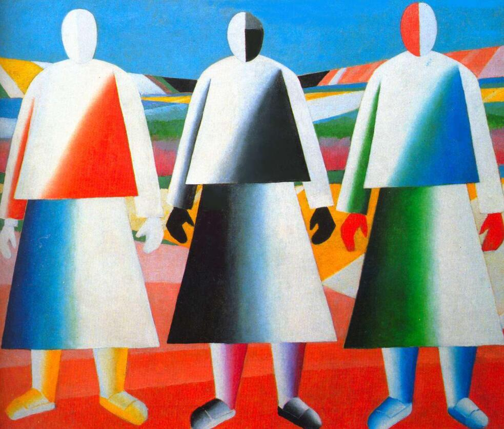 High quality Oil painting Canvas Reproductions Girls in the Fields (1932) By Kazimir Malevich hand painted