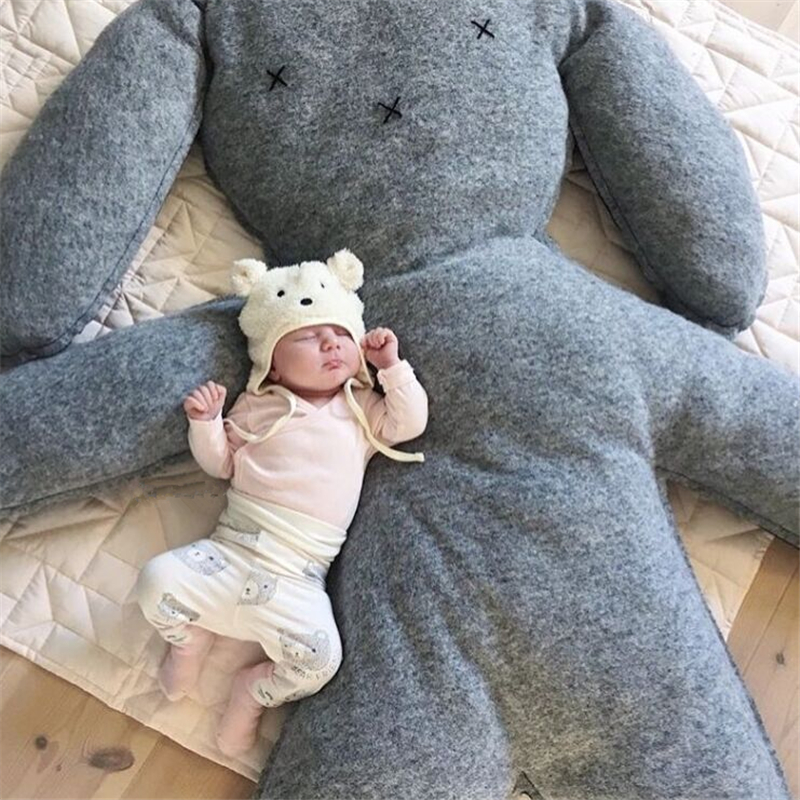 150cm Oversized Baby Rabbit Pillow Cushion Newborn Stuffed Plush Toys Baby Photography Props Children Room Decoration Doll