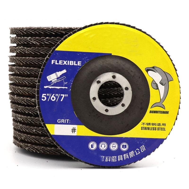 1Pcs 125/150/180mm Hole 22mm Flap Discs Wheels Grinding Sanding Discs 60/80 Grit Wood Metal Grinding Tool
