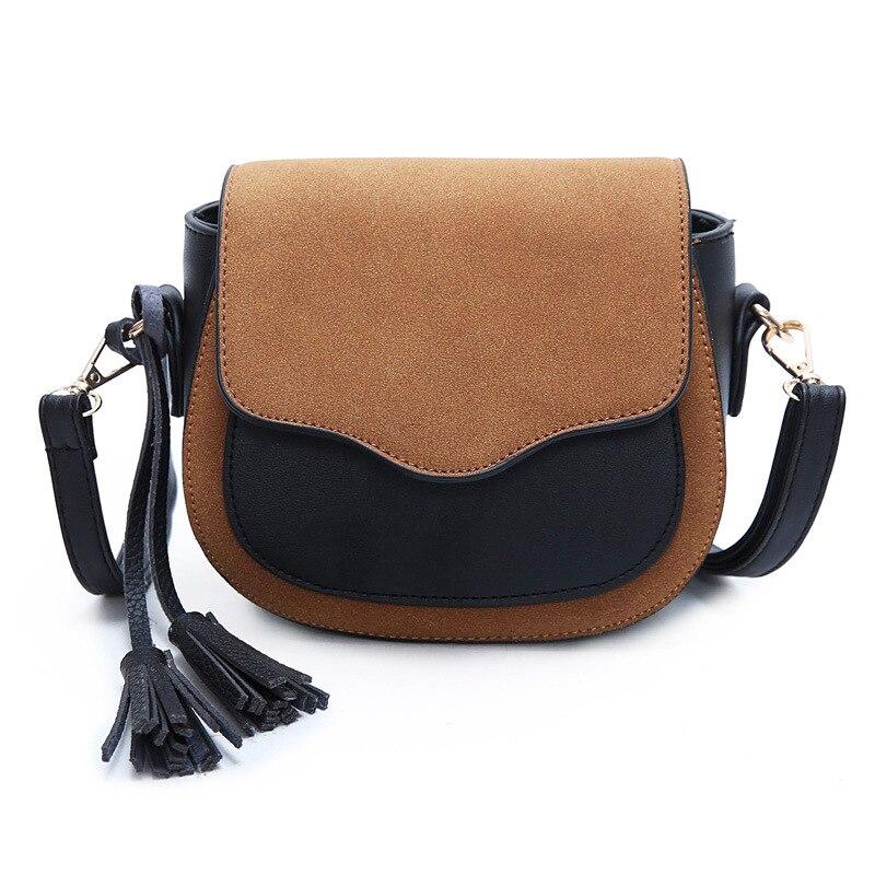 2016 Bolsa Feminina Disco Bag Tassel PU Leather Bags Handbags Women Famous Brands Tote Bags Simple Shoulder Messenger Bolsas