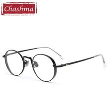 Chashma Brand Trend Round Eyeglasses Prescription Glasses Frame Vintage Optical Women and Men Stylish Retro Glass