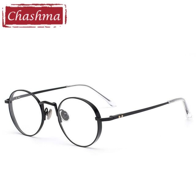 Chashma Marca Tendência Rodada Óculos de Prescrição Óculos de Armação  Vidros Ópticos Quadro Mulheres e Homens 24416ae7c0