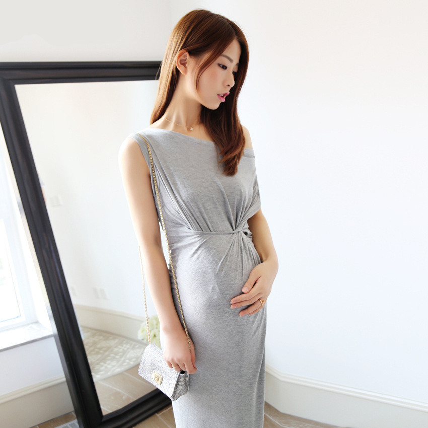 Summer Maternity Clothes Fashion Maternity Cotton Clothes Round Neck ...