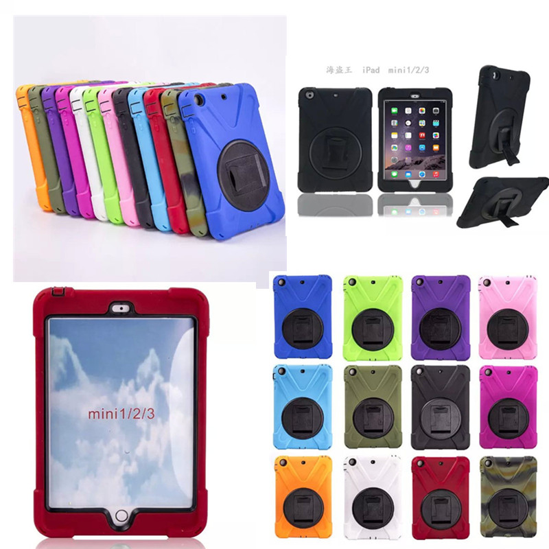 WES-HDW For iPad mini 1/2/3 Retina Kids Safe Armor Shockproof Heavy Duty Silicone Hard Case Cover For ipad mini2 mini3