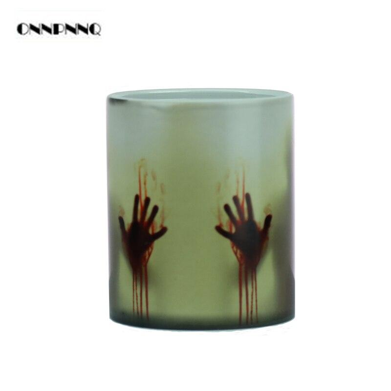 a9452ea6a5 Caneca The Walking Dead Magic Mug One Piece Chameleon Mug Change Color  Zombie Creative Porcelain Temperature Sensing Mugs